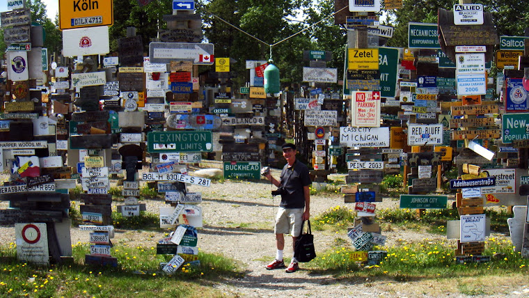 """Jerry With """"I Was Here"""" Signs"""