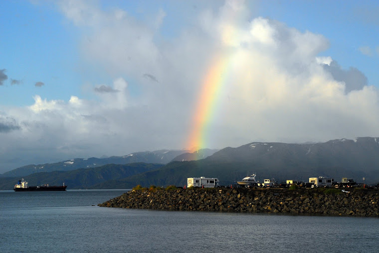 "Rainbow Looking Out at the Bay at the Homer ""Spit"""