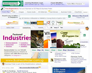 street directory singapore home page