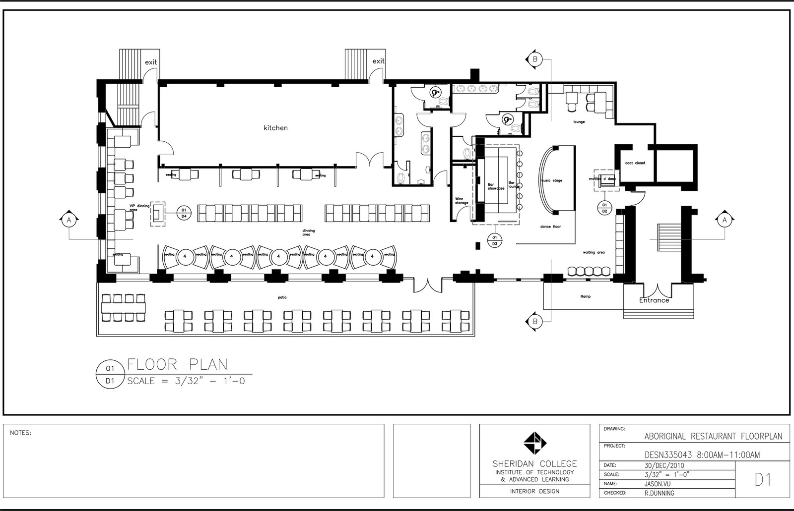 Restaurant floor plans home design and decor reviews for Blueprint drawing program