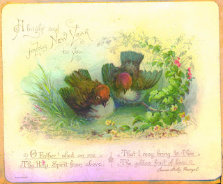 beautiful Victorian New Year Cards with messages and best wishes
