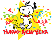 snoopy happy new year wish card
