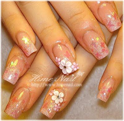 disenos de unas. Diseños de uñas color Rosado