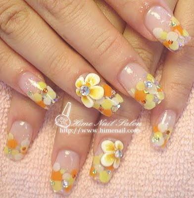 disenos de unas. Diseños de uñas Color Amarillo