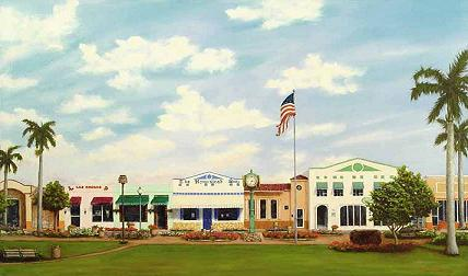 """Losner Park"" 24x36, Oil on canvas, Private Collection, Lis Nuez, 2003"