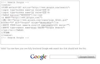 Kotak Pencarian Google WebSearch