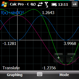 Panoramic Calc Pro 2.6.8 - graphing calculator for Windows Mobile