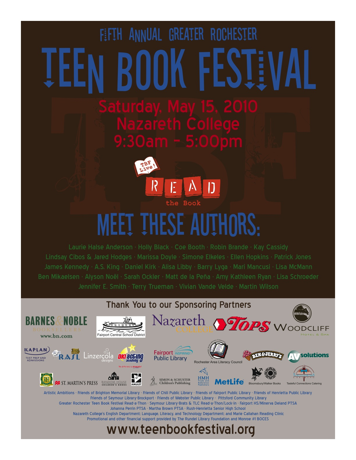 2010TBFPoster ... and compiled this list of the top 30 bestselling teen fiction books.
