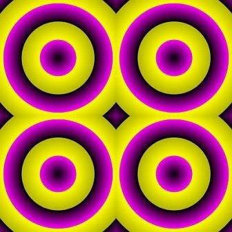 Expanding Circles Optical Illusion