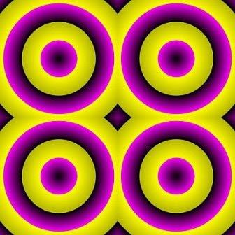 Expanding Circles Optical Illusion