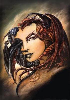 Hidden Woman in Double Dragon Illusion