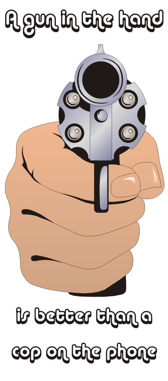 gun issue citizenry remove method protection lunacy gun in hand