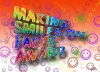 Smiles on Faces Blog Award