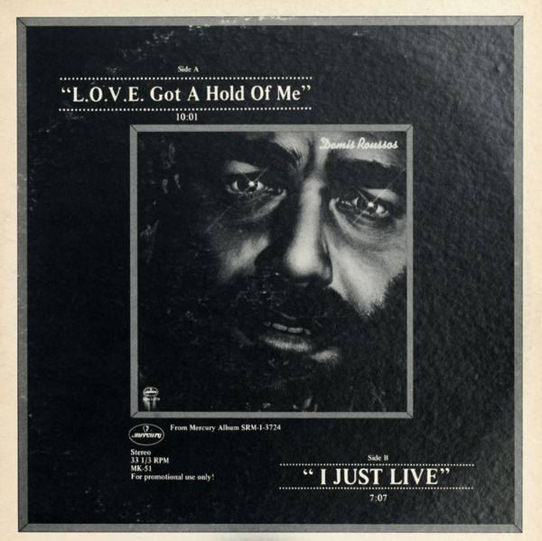 Demis Roussos LOVE Got A Hold Of Me I Just Live