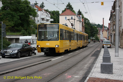 stuttgart daily photo tram on b blinger stra e. Black Bedroom Furniture Sets. Home Design Ideas