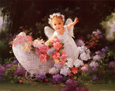 Baby Angel Painting