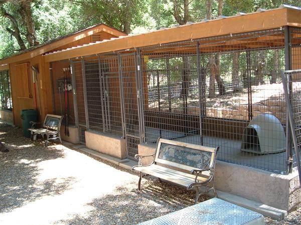 Knotty pine ranch dog kennels for Breeding kennel designs