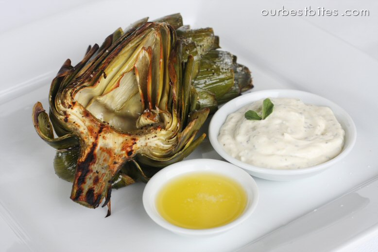 how to eat roasted artichoke