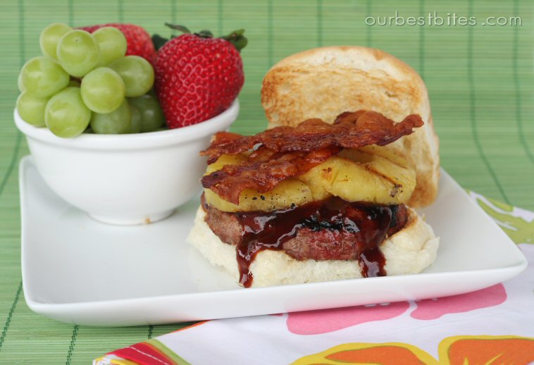 just cook already: Barbecue Bacon & Pineapple Burgers