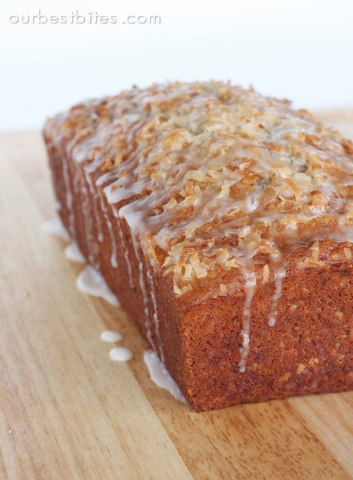 Coconut Banana Bread with Lime Glaze - Our Best Bites