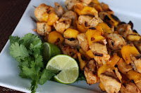 Chili-lime Mango Chicken Skewers