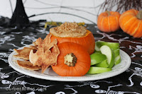 Caramel Toffee Fruit Dip: Halloween Edition