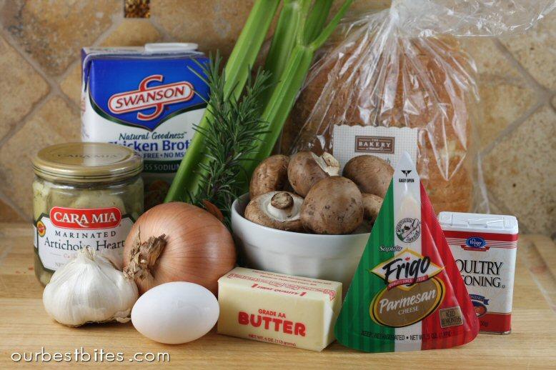 """Artichoke Parmesan Sourdough Stuffing {Or """"Dressing"""" actually!} - O..."""