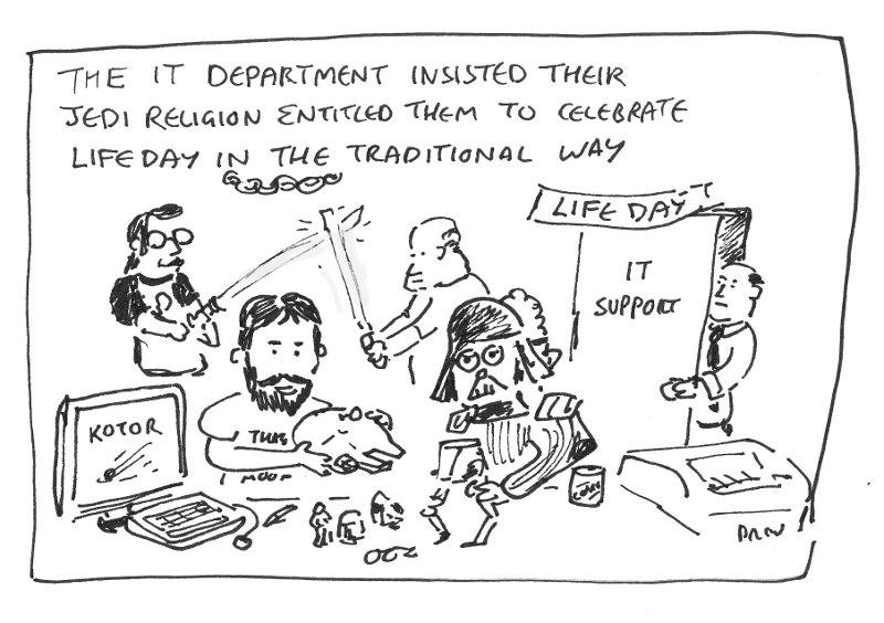 IT Life Day Celebration Cartoon