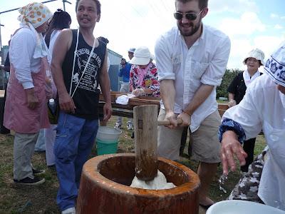 Kai Making Mochi カイ 餅つき 第17回 国際交流ふれあい農園収穫祭