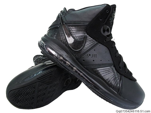 all black lebron 8