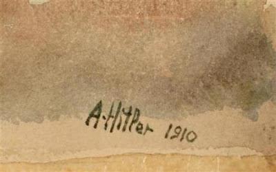 alexandru hategan, hitler, pictor, picturi, artist, arta,  genocid, razboi, adolf hitler, hitler artist