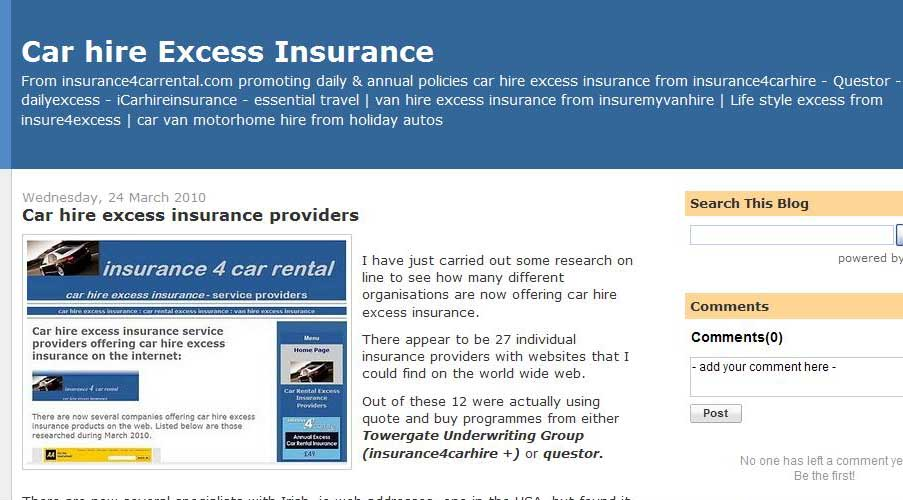 Excess Waiver Insurance Car Hire Uk