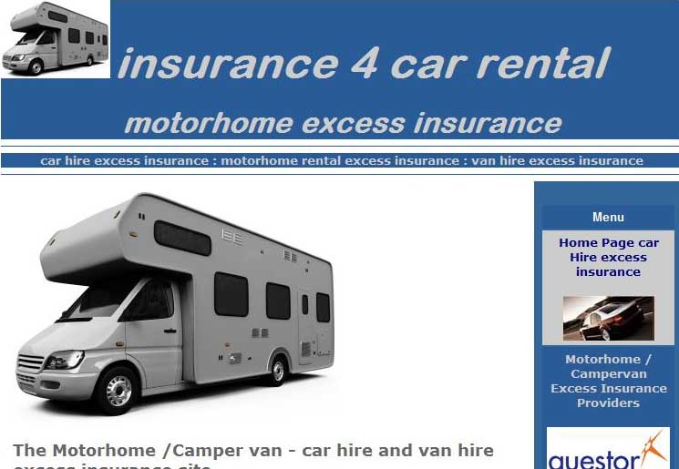 Car Hire Excess Insurance: Motorhome excess insurance now at ...