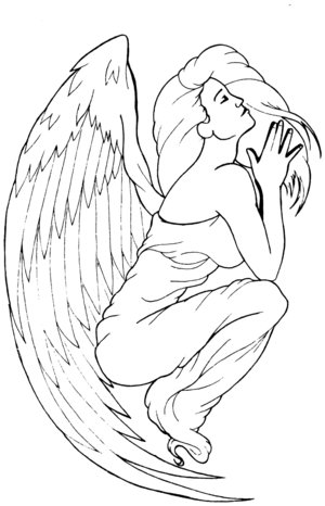 Labels: Free Angel Tattoo Design