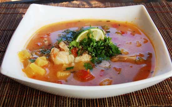 Рыбный суп в аэрогриле