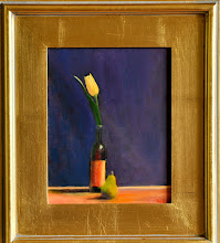 Tulip, Wine Bottle and a Pear