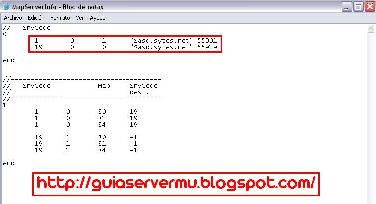 Configurando el archvio mapserverinfo con la ip