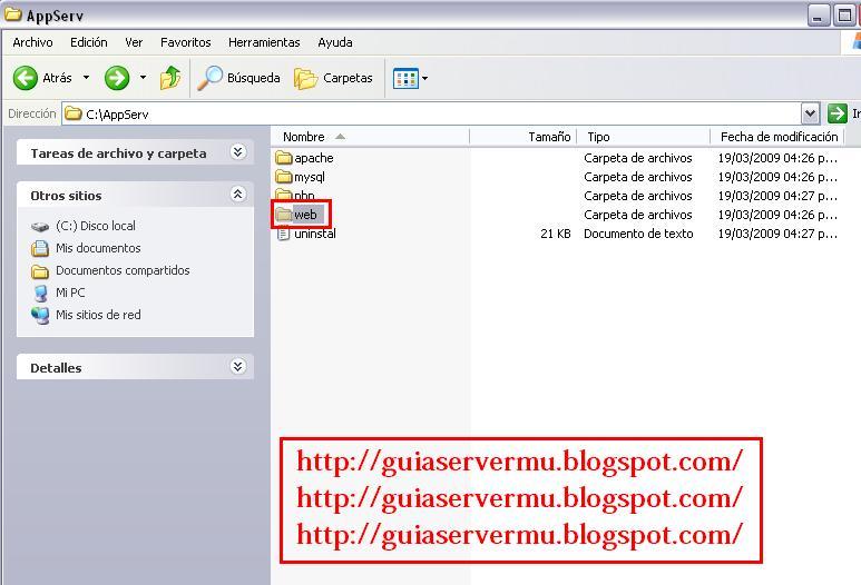Modificando el nombre de www a web
