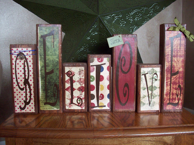 Believe Wood Blocks from www.summerscraps.com