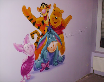 Kevgraph d coration int rieur graffiti d coration chambre enfant winnie l 39 ourson - Chambre winnie l ourson pour bebe ...