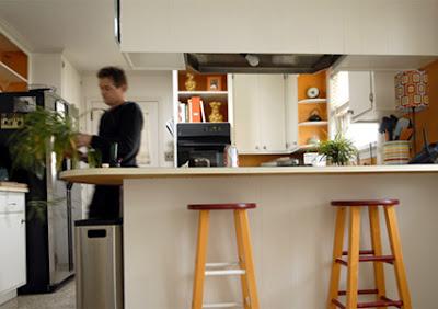happy orange kitchen