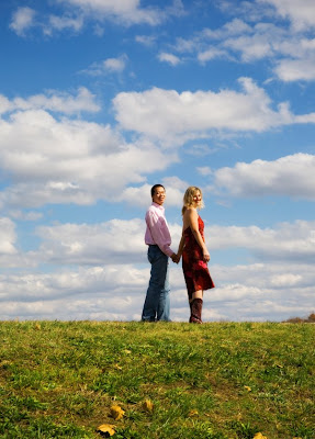 beautiful clouds, beautiful couple