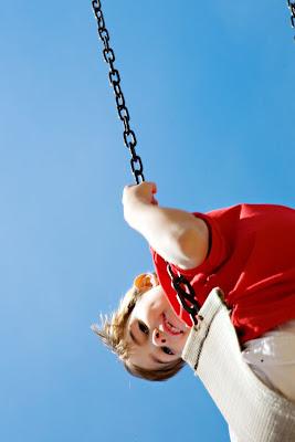 in air, on swing