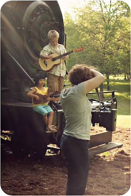 danielle photographing young musicians