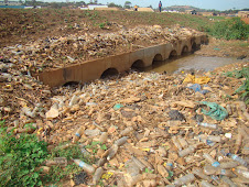 Clogged drainage channels by wastes