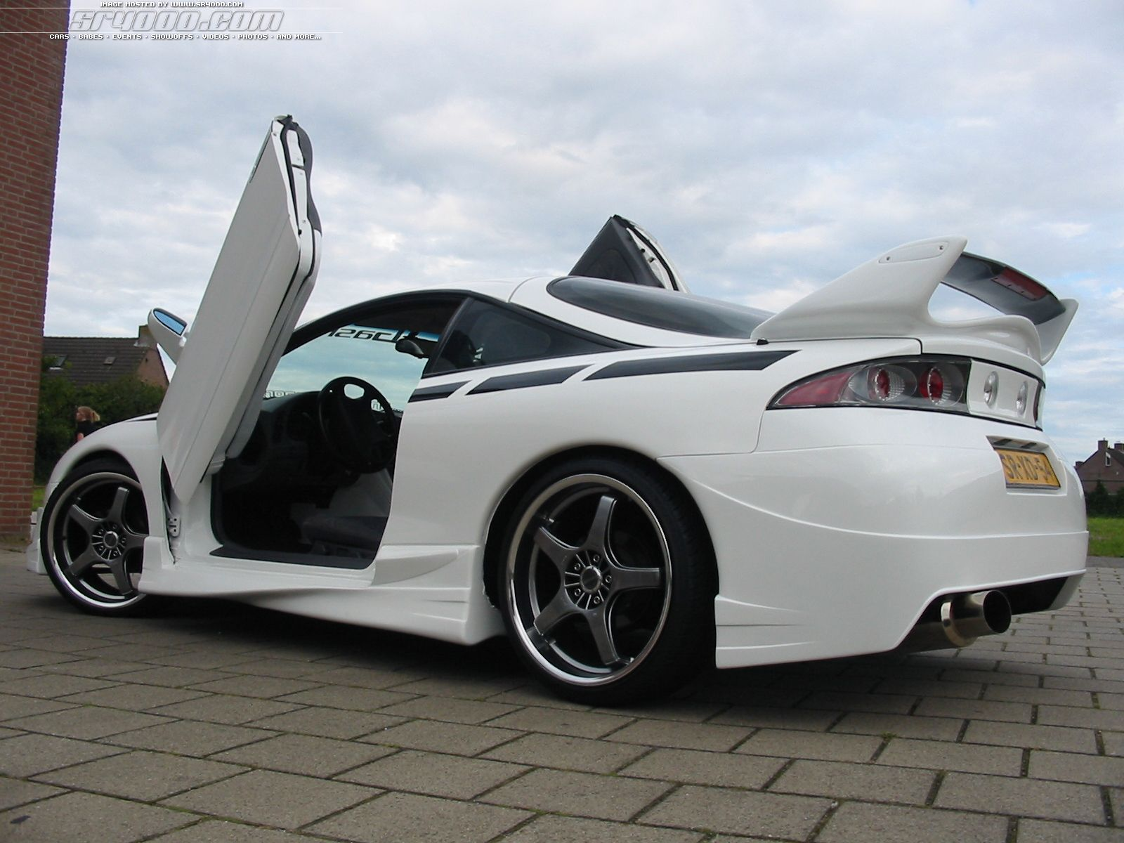 Awesome Mitsubishi Eclipse GT Rear Side View HD Wallpaper
