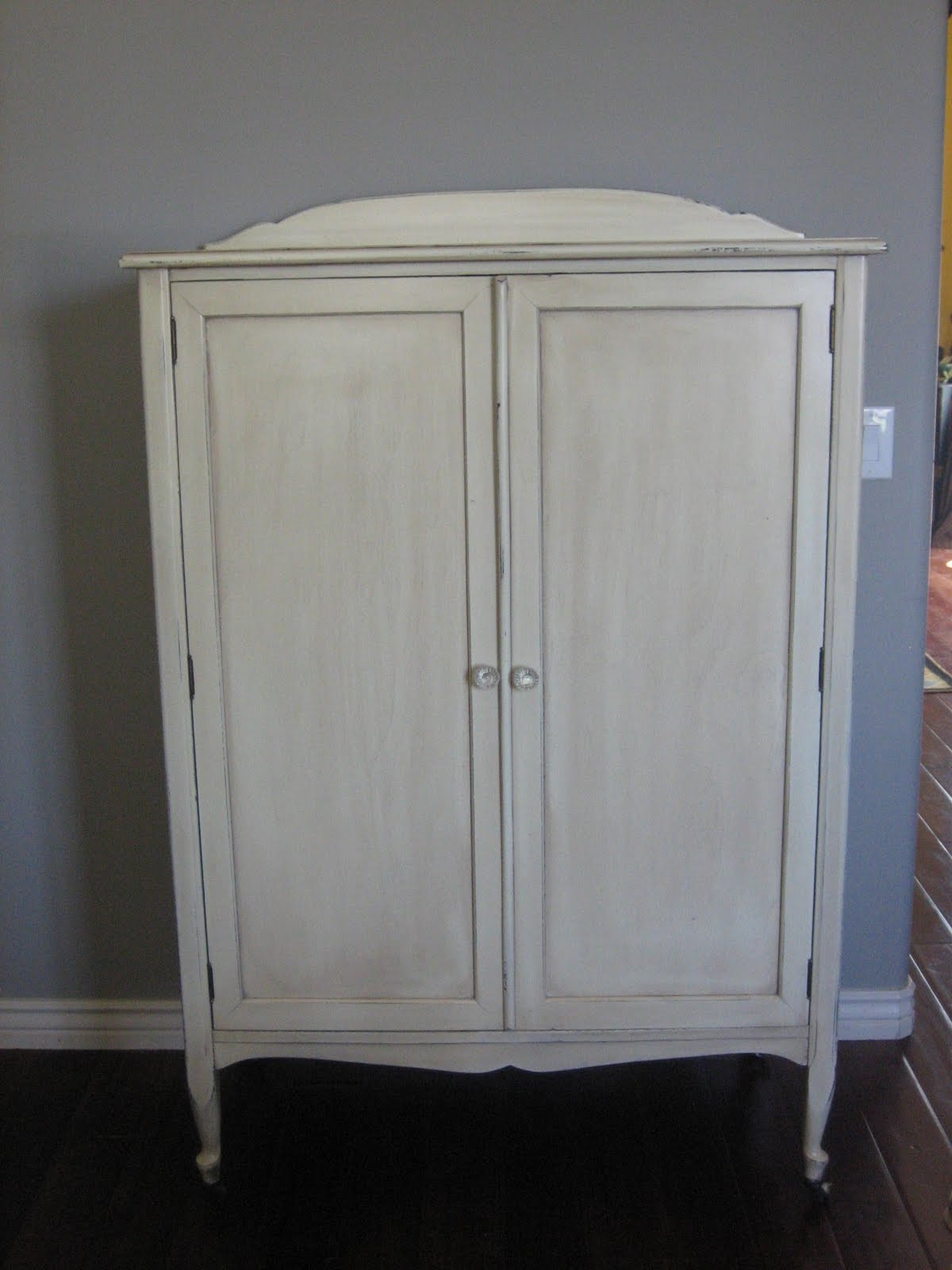 Shabby French Wardrobe Armoire ~. Full resolution‎  portrait, nominally Width 1200 Height 1600 pixels, portrait with #74654A.