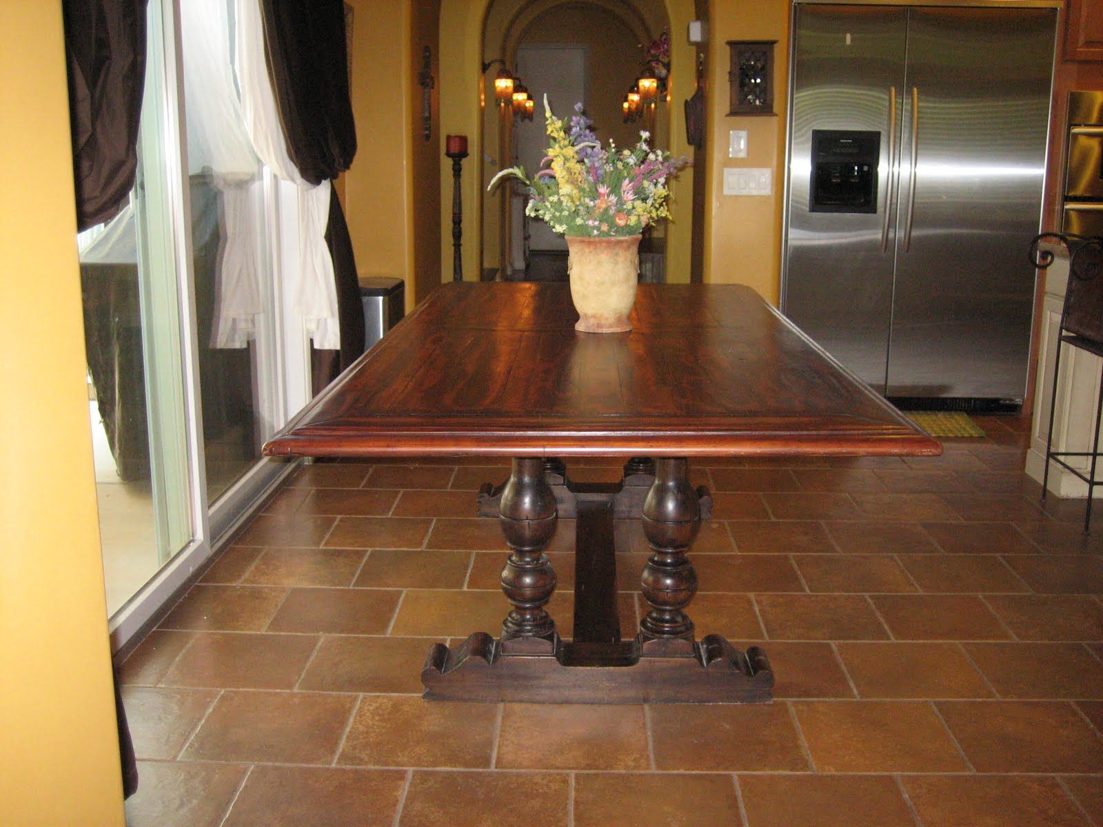 European Paint Finishes: ~ Spanish Colonial Trestle Table ~