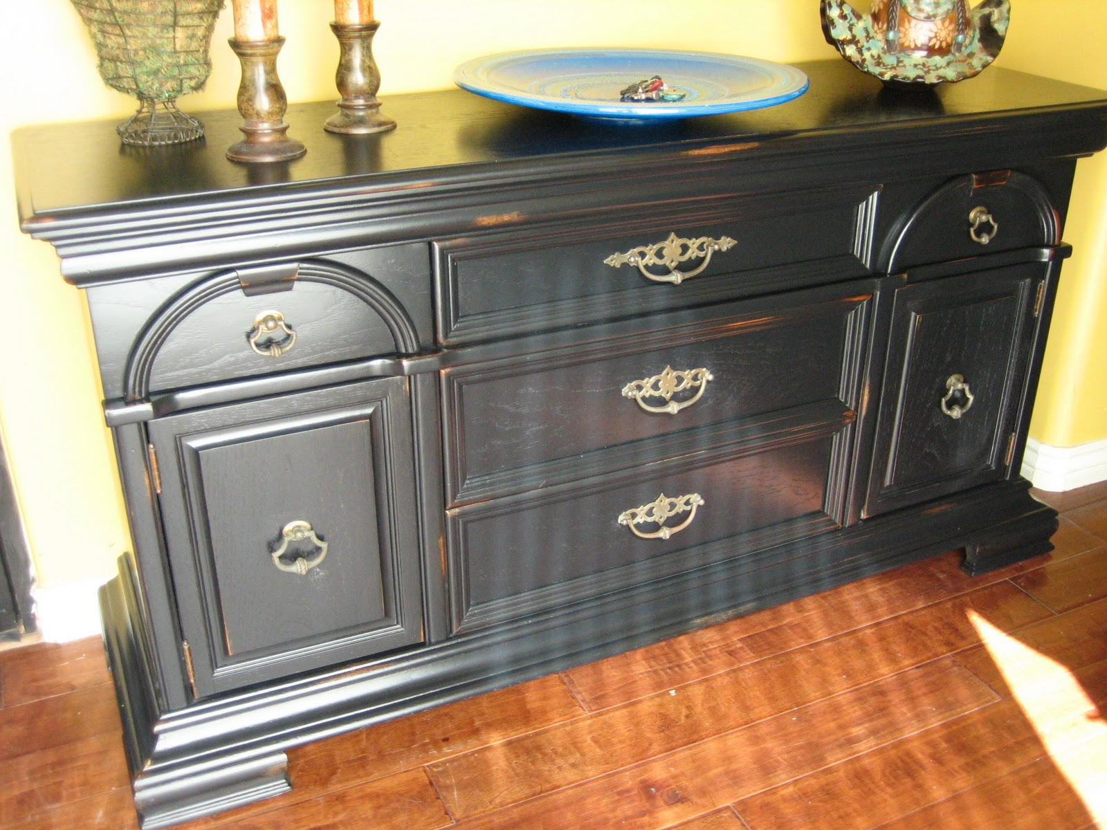 French Country Distressed Black Furniture