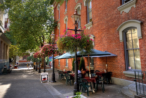 Chancery Lane, Blue Carrot Cafe, Bastion Square, Victoria, BC, Canada
